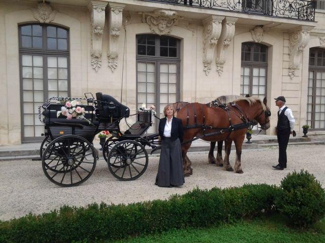 location de calèche pour un mariage inoubliable et poétique dans l'Oise