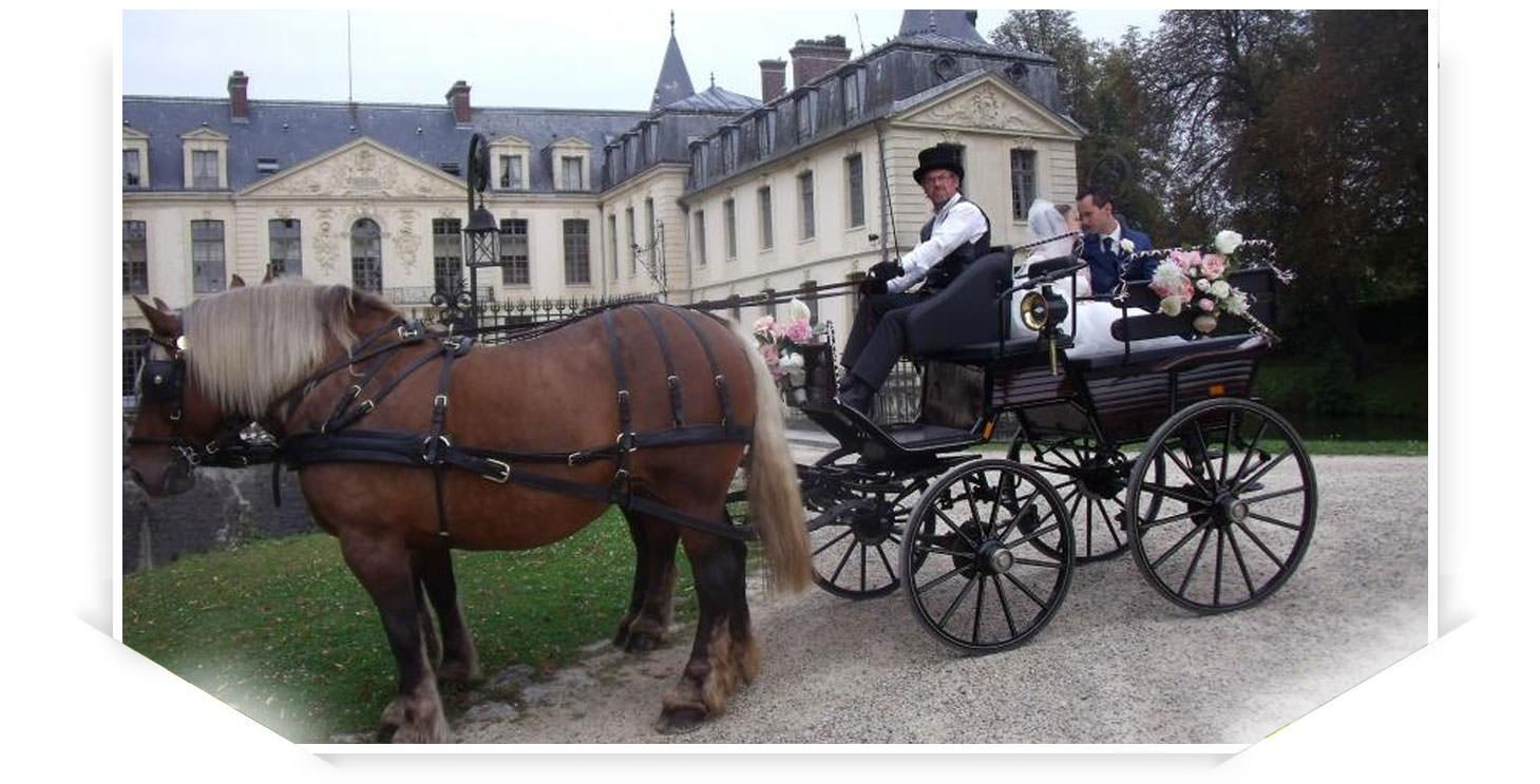 mariage en calèche de charme dans le département de l'Oise (60)